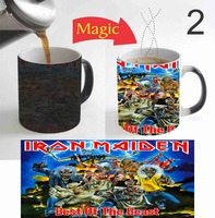 Video Game Iron Maiden Mugs Coffee Mug Heat Sensitive Transforming Cup Cold Hot Heat Changing Color