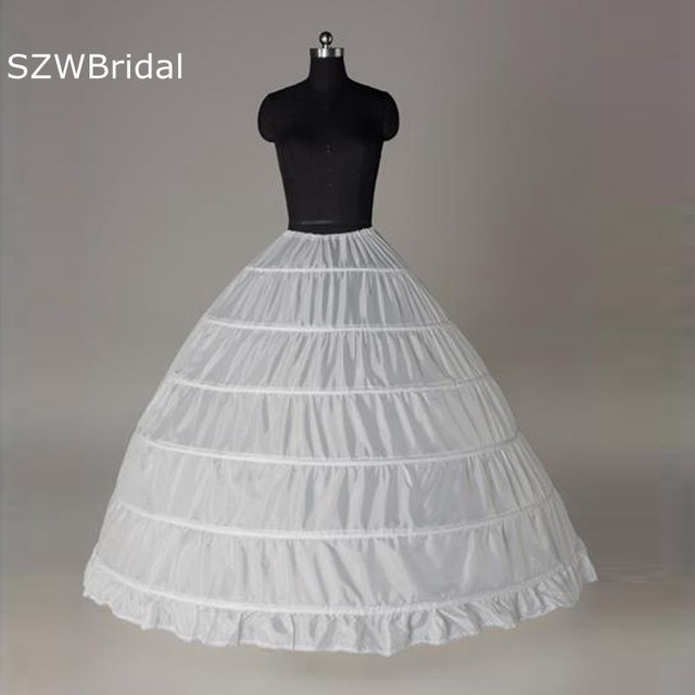 Hot Sale 2020 Fashion Wholesale 6 Rings Luxury Bridal Petticoat For Wedding Dress Ball Gown Underskirt Lining Accessories