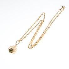 Женское золотое ожерелье подвеска в виде глаз бирка для создания