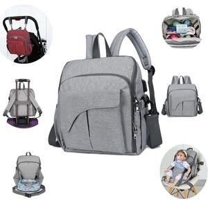 Image 2 - USB dinant la chaise imperméable sac à couches pour maman maternité Nappy sac à dos bébé poussette organisateur siège soins infirmiers sac à langer soins