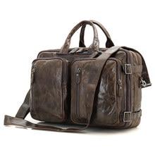 Multifunctional Genuine Leather Handbag Laptop Bag For Mens Briefcase Large Size Satchel Bags 7014