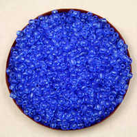 Factory Frice 80g/lot 4mm DK Blue transparent Glass Loose Spacer Seed Beads for Jewelry Making