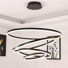Beyaz/siyah kolye ışıkları yemek odası için yatak odası akıllı ev aydınlatma süspansiyon armatür lamparas de techo colgante moderna