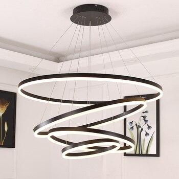 Branco/Preto pingente luzes para sala de jantar quarto de iluminação Inteligente casa lamparas de techo colgante suspensão luminária moderna