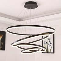 Branco/preto luzes pingente para sala de jantar quarto casa inteligente iluminação suspensão luminária lamparas techo colgante moderna