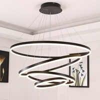 Luces colgantes blancas/negras para dormitorio comedor iluminación de hogar inteligente suspensión luminaria lamparas de techo colgante moderna