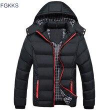 FGKKS 2017 Männer Winterjacke Warme Männliche Mäntel Mode Dicke Thermische Männer Parkas Casual Männer Markenkleidung