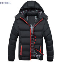 FGKKS 2017 Men Winter Jacket Warm Male Coats Fashion Thick Thermal Men Parkas Casual Men Branded