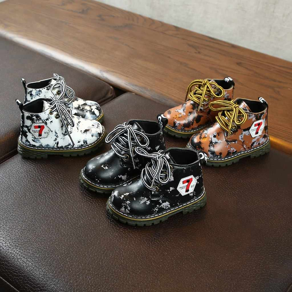 Children Girls Winter Boots Fashion Baby Girl Shoes Baby Girls Princess Camouflage Print Kids Shoes Boots Sneaker For Girls