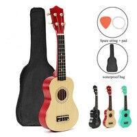 21 Guitar Combo 4 Strings Electric Bass Guitar Guitarra Basswood Ukulele Set Kits For Musical Stringed Instrument Beginner