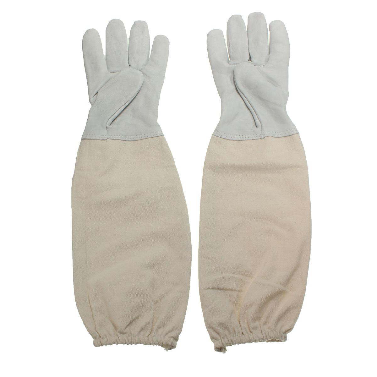 1 Pair Beekeeping Goatskin Cape Gloves XL Sheepskin W/ Vented Long Sleeves Guard New Arrival комплектующие для кормушек beekeeping 4 equipment121mm 91 158