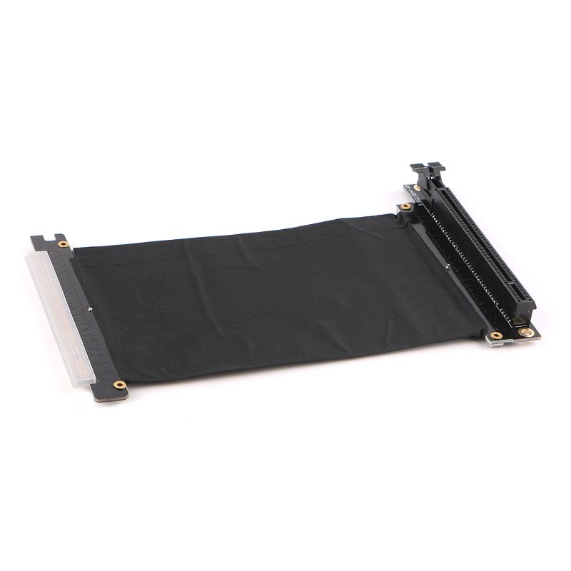 Pci express PCI-e3.0 16x adaptador de porta de extensão de placa de cabo flexível placa de alta velocidade riser placas gráficas conector cabo l tipo