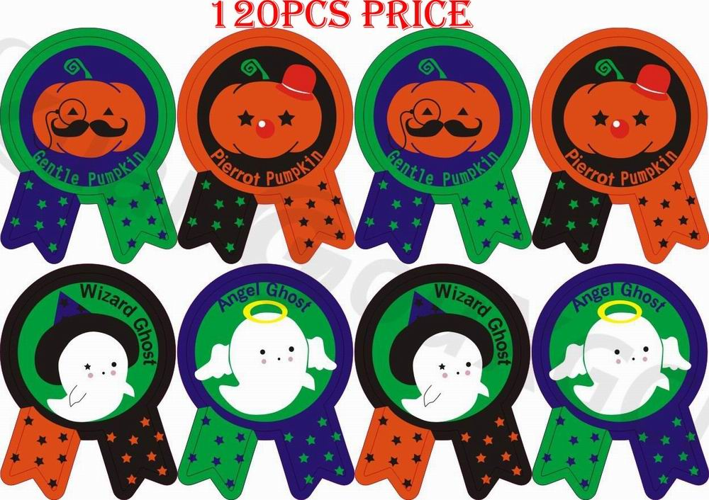 120pcs DIY Baking seal stickers cute Halloween Pumpkin Gift Tags festival witch bat home Party Label Marks Decoration Accessory in Party DIY Decorations from Home Garden