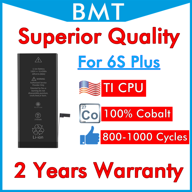 BMT Original 20pcs Superior Quality 100% Cobalt Cell <font><b>Battery</b></font> for <font><b>iPhone</b></font> <font><b>6S</b></font> Plus 6SP <font><b>6S</b></font>+ iOS 13 + ILC Technology 2019 image