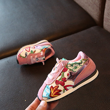 2017 new design first walkers kids flower embroidery shoes for baby unisex walking jogging shoe,fashion autumn toddler sneakers