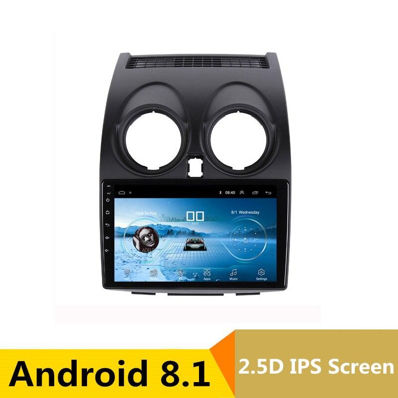 9 2.5D IPS Android 8.1 DVD de Voiture Lecteur Multimédia GPS pour Nissan Qashqai 2008 2009 2010 2011 2012 audio radio stéréo navigation
