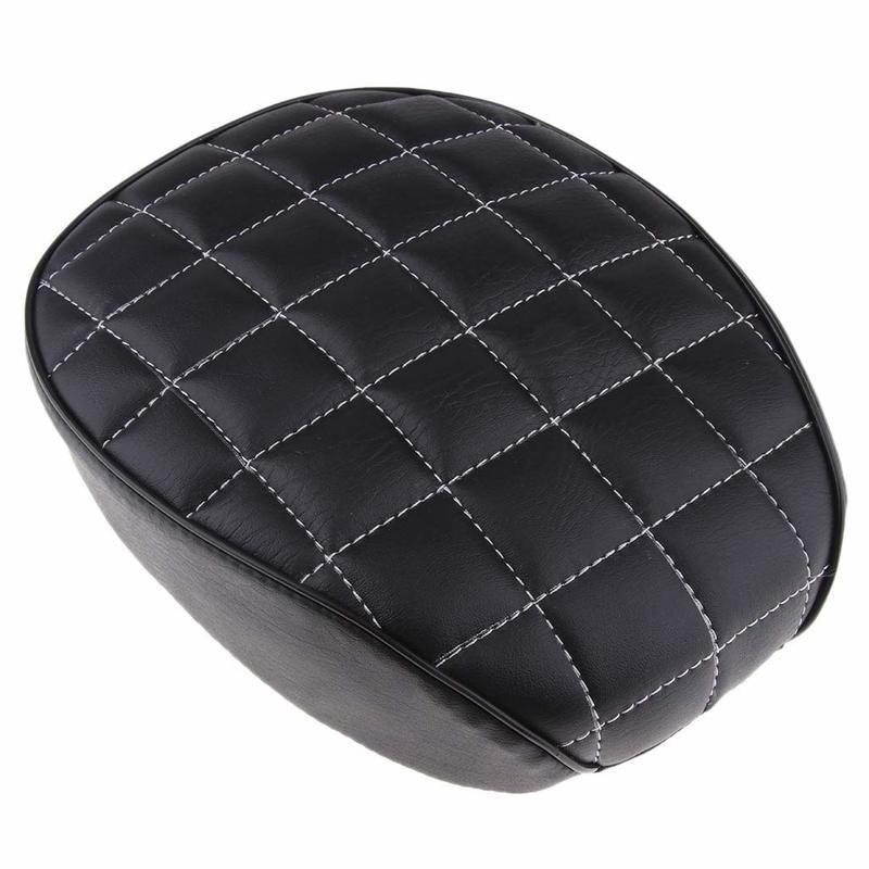 Motorcycle Rear Seat Black Checkered Passenger Pillion Pad Cushion For  Sportster 48 72 1200X 1200V