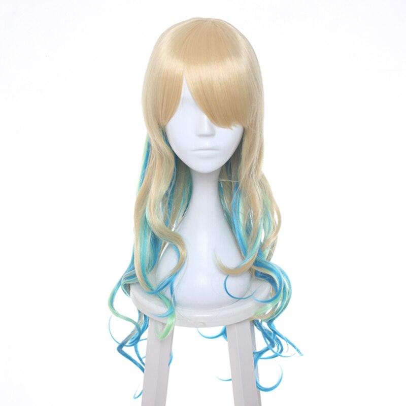 Miss Kobayashi's Dragon Maid Quetzalcoatl Lucoa Wig Long Wavy Synthetic Hair Cosplay Wig +Wig  Cap