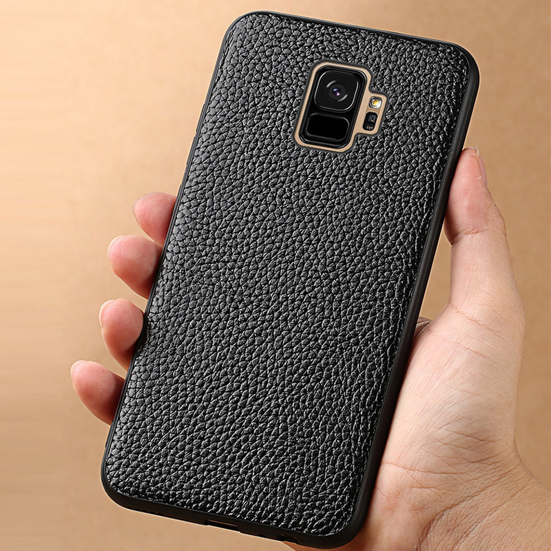 Phone Case For Samsung Galaxy S9 Plus Note 8 9 S7 edge S8 A3 A5 A7 J3 J5 J7 2017 Litchi Texture Back Cover