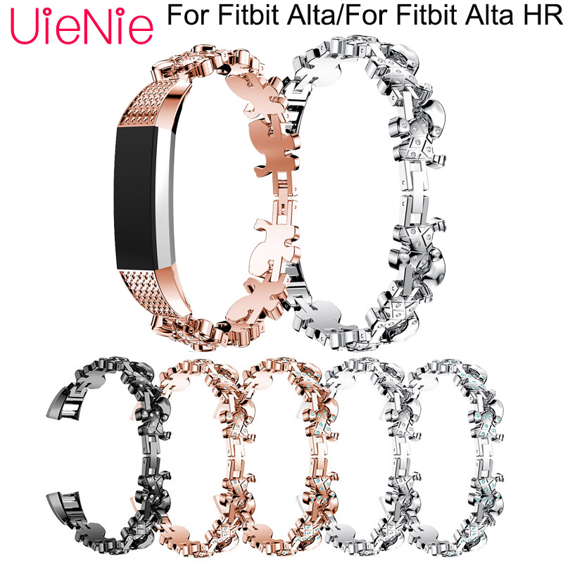 Aluminum alloy strap For Fitbit Alta Frontier classic smart watch wristband For Fitbit Alta HR smart watchband accessories in Watchbands from Watches