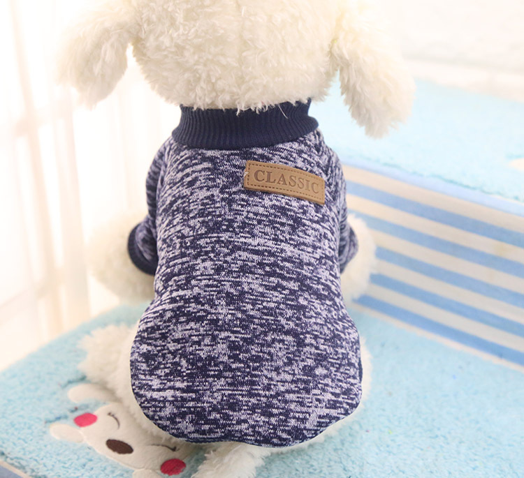 Classic Warm Dog Clothes Puppy Pet Cat Jacket Coat Winter Fashion Soft Sweater Clothing For Small Dogs Chihuahua XS-2XL 25S1 8