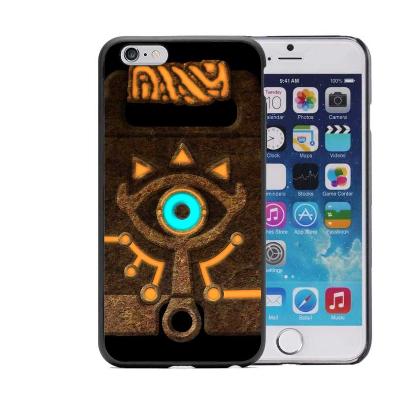 online store e1550 56388 The Legend of Zelda Breath of the Wild Sheikah Slate Hard plastic Phone  Case For iPhone 5 5S 6 6S Plus SE 7 7Plus Black Cover-in Underwear from  Mother ...