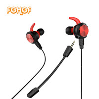 FG30 3 5mm Gaming Headset Dynamic Dual Driver Noise Isolating Headphone In Ear Earphone With Detachable