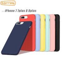 Torras Original Silicone Case For IPhone 8 8 Plus 7plus Full Protective Phone Case For Apple