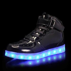 Image 5 - Größe 25 39 Kinder LED Kinder Glowing Turnschuhe mit Licht Leucht Turnschuhe für Jungen Mädchen Turnschuhe mit Licht Sohle