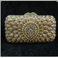 lady Colorful Crystal Diamond clutch night purse Women Bag Iphone X Wallet Case Sling Bags For Lady Party Clutch Evening Bag