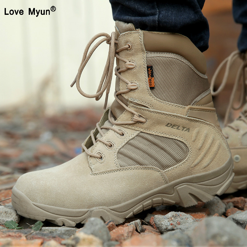Spring Men Military Army Boots Special Force Waterproof Leather Desert Combat Work Shoes Tactical Ankle Boots Mens869huSpring Men Military Army Boots Special Force Waterproof Leather Desert Combat Work Shoes Tactical Ankle Boots Mens869hu