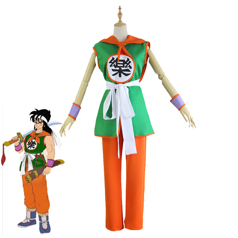 2017 New Anime Dragon Ball Yamcha Cosplay Costume Chinese Kungfu Suit Halloween Christmas Carnival Uniforms Full Set Custom Made