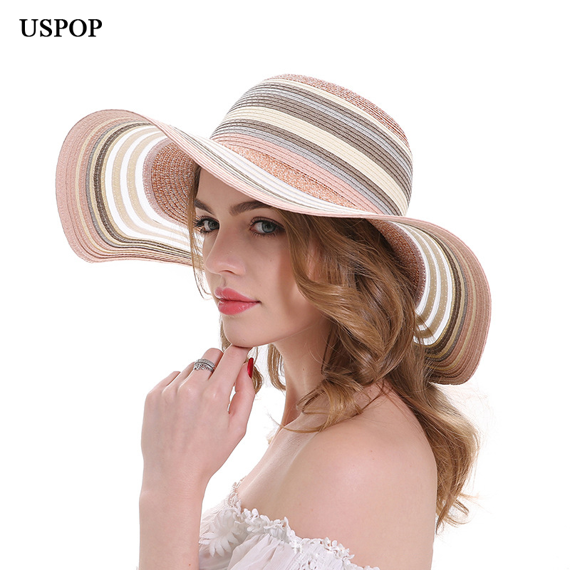 8c0a18ad79ebf8 Buy stripe straw hat and get free shipping on AliExpress.com