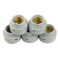 2 шт e27 керамический держатель лампы медный винт лампа Цоколь