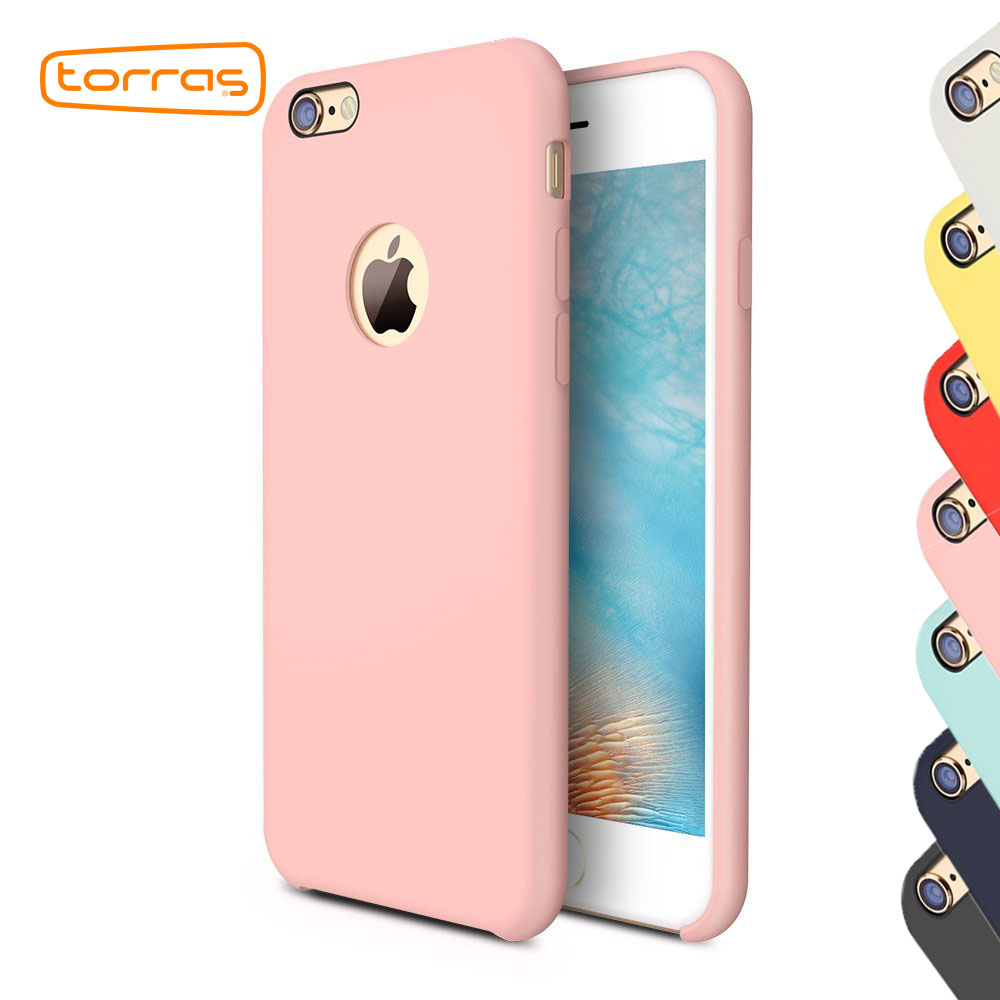 TORRAS Show Logo Silicone Case for iPhone 6 6s plus Phone Case Super Protective Back Cover Phone