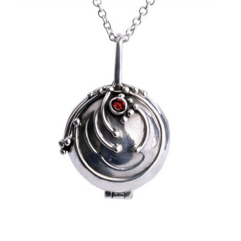 цена The Vampire Diaries Necklace Elena Vervain 925 Steling Silver Necklace Verbena Locket Pendant Cosplay Jewelry Vervain Necklace