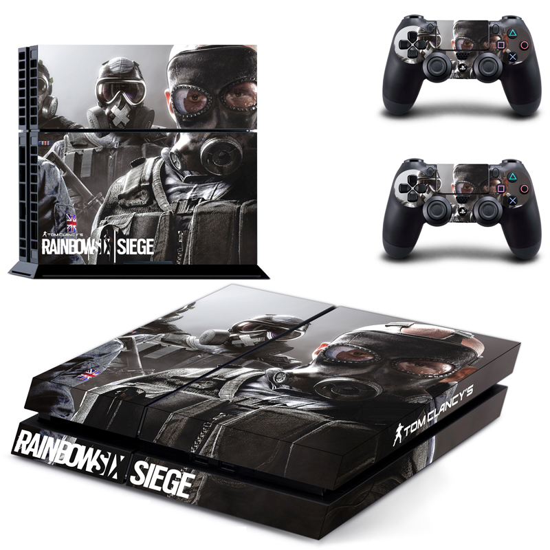 Tom Clancy's Rainbow Six Siege decal PS4 Skin Sticker For Sony Playstation 4 Console protection film +2Pcs Controllers 6 pattern