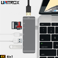 USB 3.0 C Hub To HDMI Splitter Adapter Type C Hub TF Micro SD Card Reader 4K Thunderbolt 3 For Imac For Macbook Pro 2015 2018