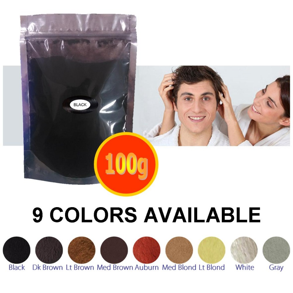 9 Colors china best hair building fibers factory direct sale