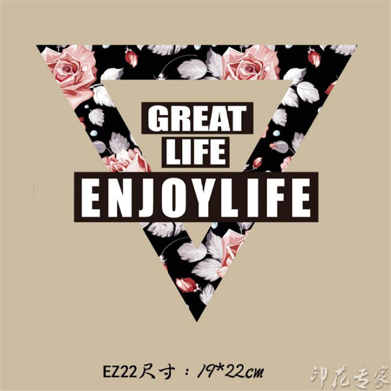 Flowers clothes patches heat transfer stickers printing iron on appliques VQ