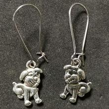 Design Silver Bijoux Cute Puppy Dogs Drop Earrings For Women Retro Fashion Jewelry Dangle Statement Girls Gift