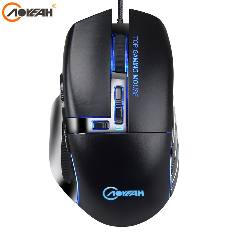AOYEAH Gaming Mouse Computer Mice 4000 DPI 12 buttons USB Optical Professional Gaming Mouse programmable mouse For gamer lol PC rapoo 16000 dpi e sports gaming mouse cf lol dota 2 professional grade pc gamer mouse 10 programmable keys ir optical game mouse
