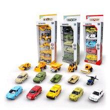 New Multi-style Die-casting Mini Alloy Engineering Truck Fire Truck Medical Car Dump Truck Model Classic Toy Boy Mini Gift