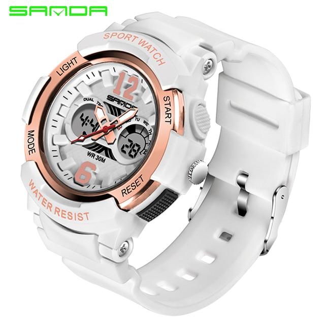 2019 Watch Women Sports Watches Ladies Waterproof Digital Quartz Wristwatch For