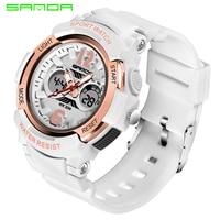 SANDA Sport Watches Women LED Waterproof Wristwatch Ladies Top Brand Sport Clock For Female 2018 Relogio