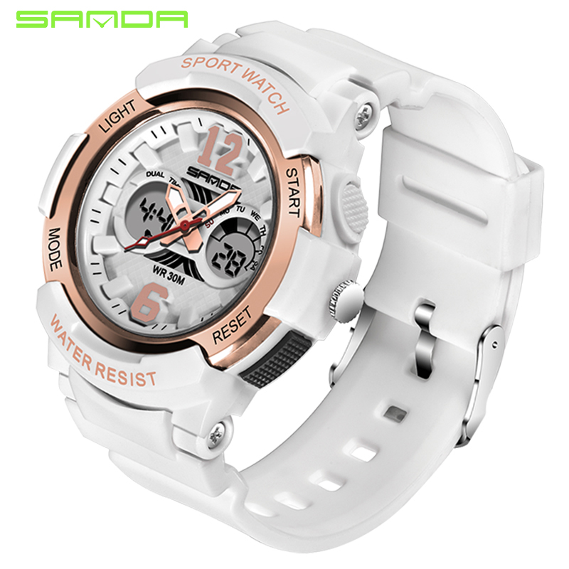 SANDA Sport Watches Women LED Waterproof Wristwatch Ladies Top Brand Sport Clock For Female 2018 Relogio Feminino Relojes Mujer