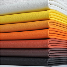 1pcs = 50cm * 138cm Faux Leather Fabric for Sewin Lychee PU artificial leather car bedside backpack decorative DIY material