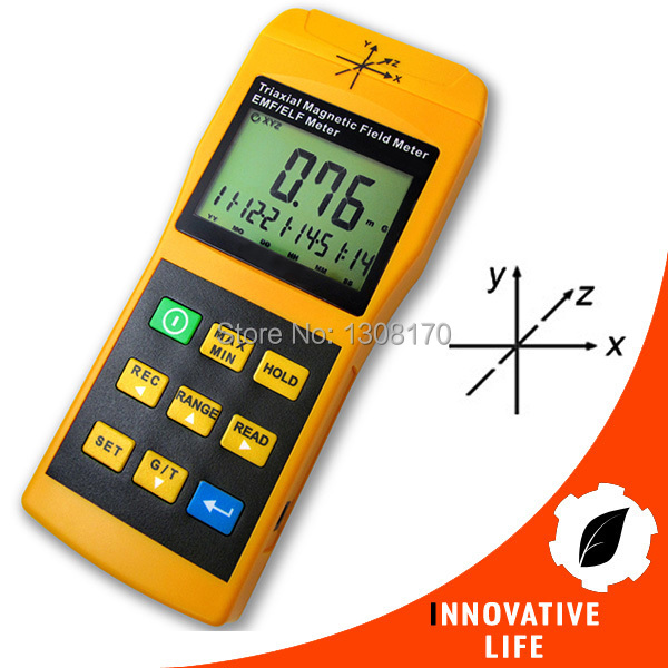 Digital Tri-Axis Sensor Gaussmeter EMF ELF Electro Magnetic Field Gauss Meter Auto Manual 2000mG Made in Taiwan Tester tenmars tm 192d 3 axis emf electromagnetic magnetic field gauss meter emf 30 2000hz with datalogger
