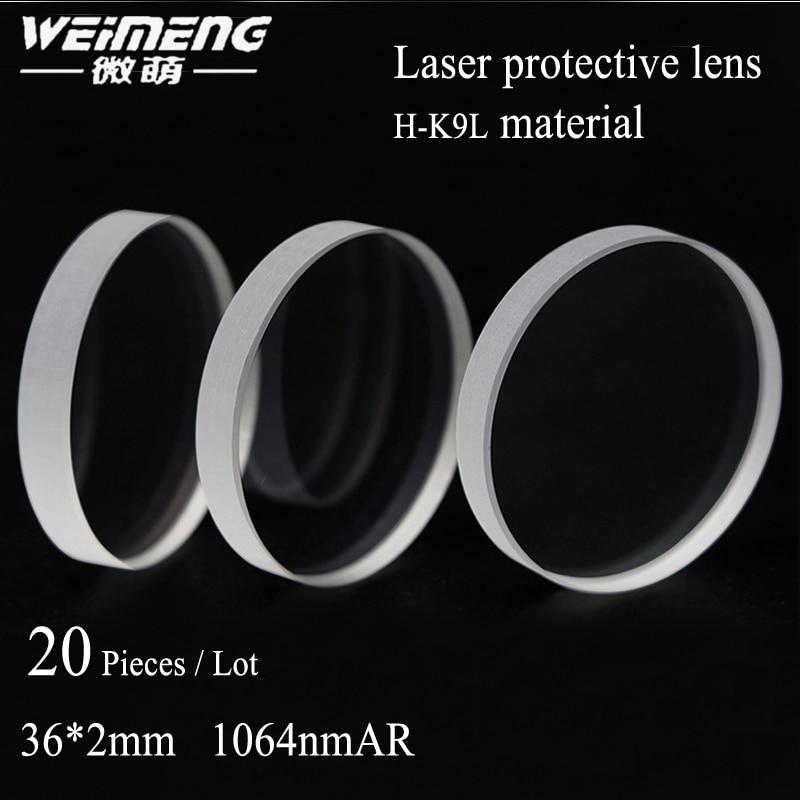 Vidro da Janela Amarelo para a Máquina de Corte Peças Bolsa Circular H-k9l Laser Lens Protective & Filme Lateral Dobro 20 – 36*2