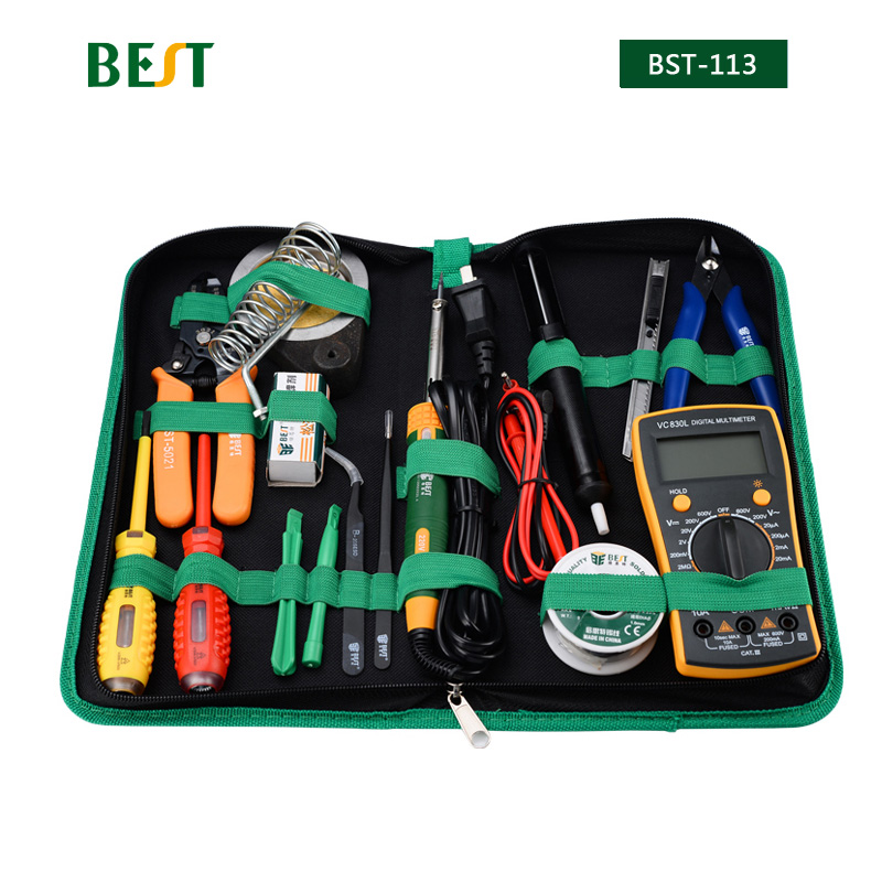 16in1 Household Profession Multi-purpose Repair Tool Set With Soldering Iron Digital Mulimeter For Smart Phone Laptop PC Tablet 16 in 1 household profession multi purpose repair tool set with soldering iron digital mulimeter for laptop pc tablet